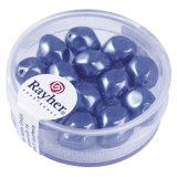 Perle Renaissance 9 mm ø. boîte 13 pces bleu azur