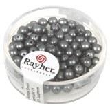 Perles en verre Renaissance. opales 4 mm. boite 85 pces gris acier