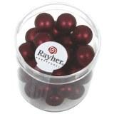 Perles en verre Renaissance. opales 10 mm. boîte 35 pces rouge vin