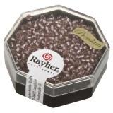 Premium-rocailles. 2.2 mm avec garniture d'argent rosa chiffon. boite 12g