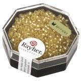 Premium-rocailles. 2.2 mm avec garniture d'argent. givr. boite 8  ombre or