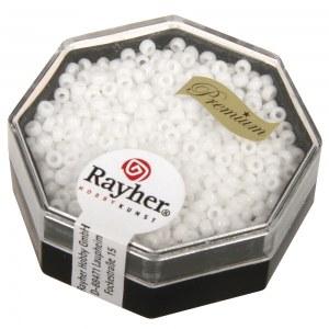 Premium-rocailles. 2.2 mm opaque blanc. boite 12 g