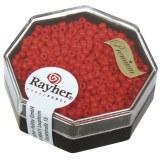 Premium-rocailles. 2.2 mm opaque rouge feu. boite 8 g