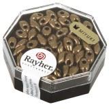 Perles Magatama. metalliques 4x7 mm. oblongues. boite 5 g cuivr