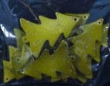 Sapin au look ceramique, 4 cm, sct.-LS 10 pces, vert moyen