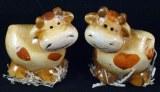 2 Vaches en ceramique, 6 cm