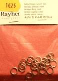 Anneau antique, ovale, 7,3mm a¸, 1mm, inter. a¸ 5,3mm, sct.-LS 20 pces, argent ancien