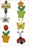 Miniatures en bois Jardin dete, 2,5-4,5 cm, sct.-LS 6 pces
