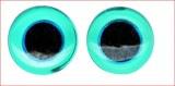 Yeux d'animaux en verre a coudre, sct.-LS 10 pces, bleu clair, 12 mm a¸