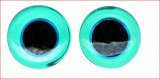 Yeux d'animaux en verre a coudre, sct.-LS 6 pces, bleu clair, 14 mm a¸