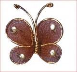 Papillon en collants, 1,5 cm, sct.-LS 4 pces, brun fonce