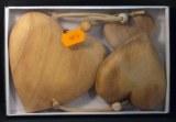 Kit de pendentifs en bois: Coeur, 5, 7, 10 cm, kit 3 tailles