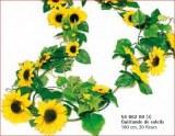Guirlande de Tournesols, 180 cm, 20 fleurs