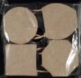 4 Petits sacs en papier-mache, sachet 4 motifs