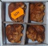 Set d'ecureuils en ceramique, 6 cm, set 4 pces