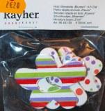 Petits objets en bois: Fleurs, 4-5 cm, sct.-LS 6 pces, assorties