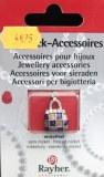 Breloque petit sac email/metal jaune et bleu