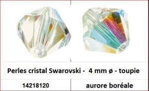 Perles cristal Swarovski -  4 mm a¸ - toupie - aurore boreale