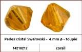 Perles cristal Swarovski -  4 mm a¸ - toupie - corail