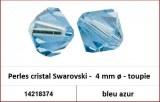 Perles cristal Swarovski -  4 mm a¸ - toupie - bleu azur