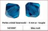 Perles cristal Swarovski -  4 mm a¸ - toupie - bleu nuit