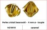 Perles cristal Swarovski -  4 mm a¸ - toupie - caramel