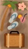 Motif autocollant Bonnes vacances, 2-7,5 cm, sct.-LS 6 pces
