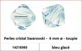 Perles cristal Swarovski -  4 mm a¸ - toupie - bleu glace