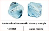 Perles cristal Swarovski -  4 mm a¸ - toupie - aigue-marine