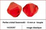 Perles cristal Swarovski -  6 mm a¸ - toupie - rouge classique