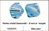 Perles cristal Swarovski -  6 mm a¸ - toupie - bleu azur