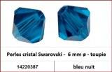 Perles cristal Swarovski -  6 mm a¸ - toupie - bleu nuit
