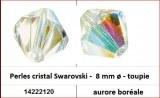 Perles cristal Swarovski -  8 mm a¸ - toupie - aurore boreale