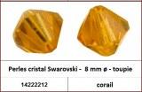 Perles cristal Swarovski -  8 mm a¸ - toupie - corail