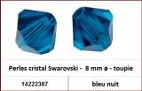 Perles cristal Swarovski -  8 mm a¸ - toupie - bleu nuit