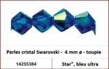 "Perles cristal Swarovski -  4 mm a¸ - toupie - Star"", bleu ultra"