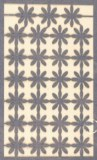 Pce decoupee au laser Mini-marguerites, sct.-LS 1 coupon, 5,5x7,5 cm, bleu royal