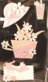 Motif autocollant Magie de fleurs, 3-5 cm, sct.-LS 4 pces
