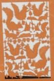 Piece decoupee au laser Ecureuil, sct.-LS 1 coupon, 5,5x7,5 cm, rouille