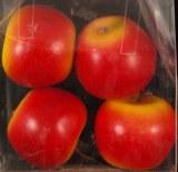 Pommes, 4 cm, boite 4 pces, rouge