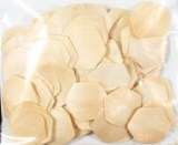 Lamelles deco en bois Petys, 2,0x2,2 cm, Hexagone, sct.-LS 100 pces, nature