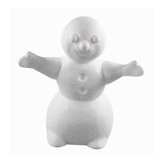 Bonhomme de neige en polystyrene<br />17 cm