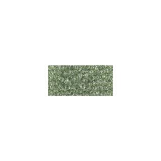 Rocailles, transparentes, 2,6 mm ø<br />vert antique