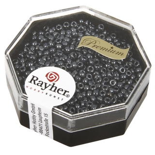 Premium-rocailles, 2,2 mm ø metallic<br />anthracite, boîte 8 g