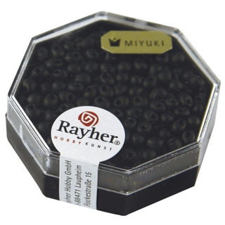 Miyuki-Perle-Drop, opaque, givree ø 3,4 mm<br />noir