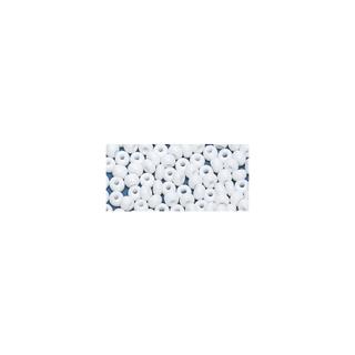 Perles indiennes. 4.5 mm ø blanc