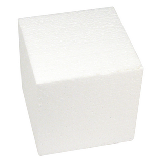 Cube en polystyrene 15x15x15 cm