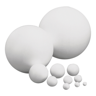 Boules en polystyrene, 1 pièce 8 cm ø