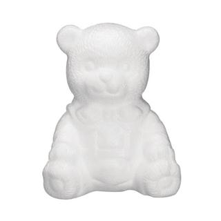 Ourson en polystyrene, asssis 16 cm
