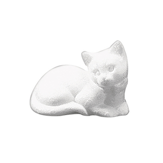 Chat en polystyrene, dormant 14 cm